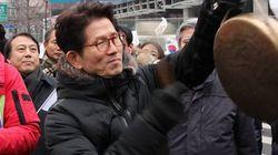 탄핵반대집회에 참석한 김문수의 한
