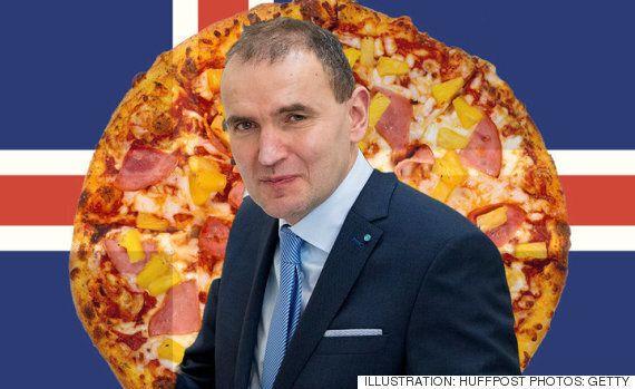 아이슬란드 대통령은 파인애플을 피자 토핑으로 쓰는 것을 금지하고