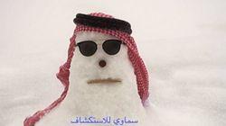아랍에미리트에 눈이