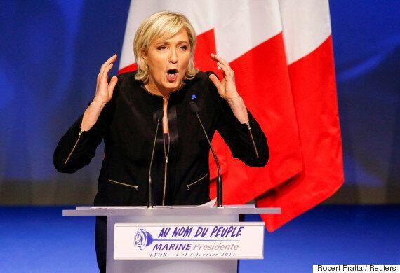 국민전선 마린 르펜이 첫 대선 유세에서 '프랑스 우선주의'를