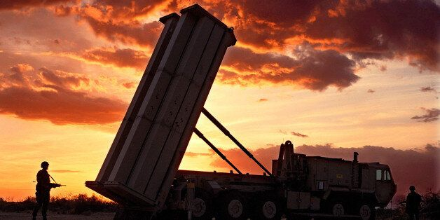 The Pentagon again postponed a key test of its troubled 'THAAD'''' anti-missile defense rocket, seen...