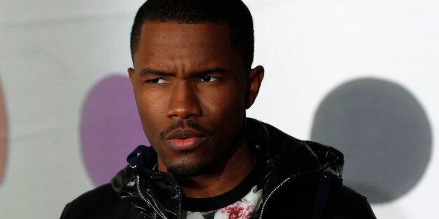 U.S. singer Frank Ocean arrives for the BRIT Awards, celebrating British pop music, at the O2 Arena in...