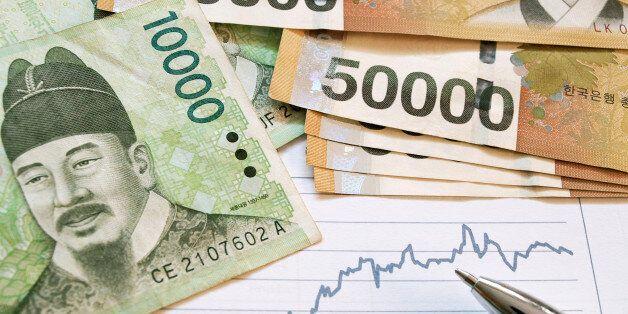 Korean money with graph analysis. Financial