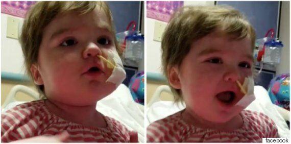 골수이식을 두 번이나 받은 꼬마 소녀의 노래 부르는 모습은 정말