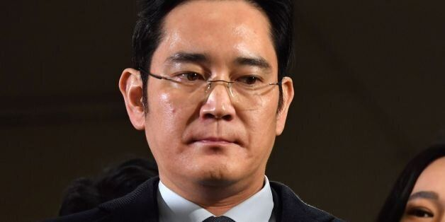 Lee Jae-yong, vice chairman of Samsung Electronics, arrives to be questioned as a suspect in a corruption...