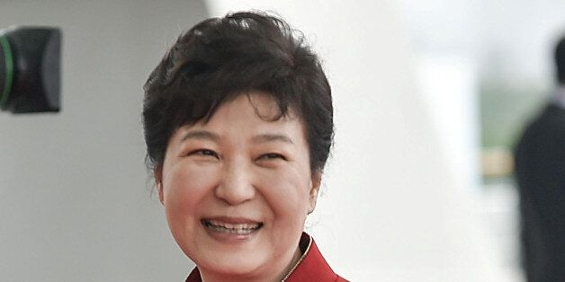 South Korean President Park Geun-Hye arrives to attend the G20 Summit in Hangzhou, Zhejiang province,...