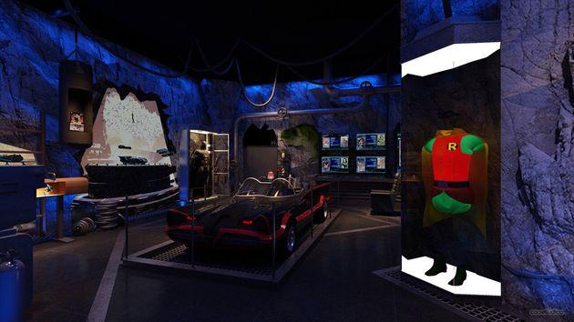 Batcaverna guarda roupa do melhor amigo, Robin, morto por