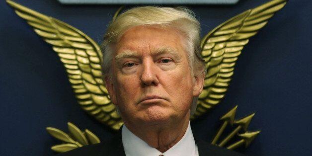 U.S. President Donald Trump looks on following a swearing-in ceremony for Defense Secretary James Mattis...