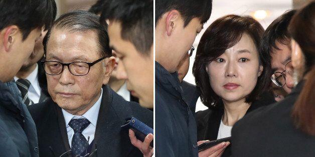 '블랙리스트' 작성을 주도한 혐의로 김기춘·조윤선이