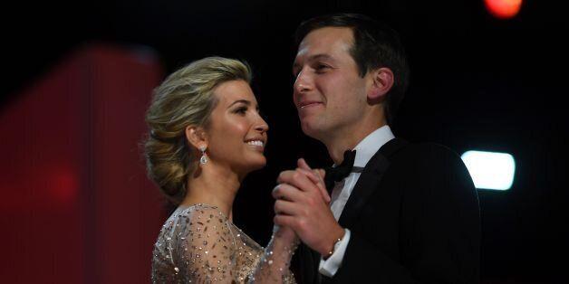 Ivanka Trump and her husband Jared Kushner dance at the Liberty Ball at the Washington DC Convention...
