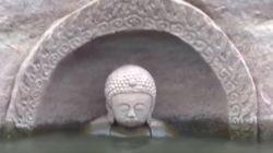 중국 어느 저수지에서 600년 된 불상이