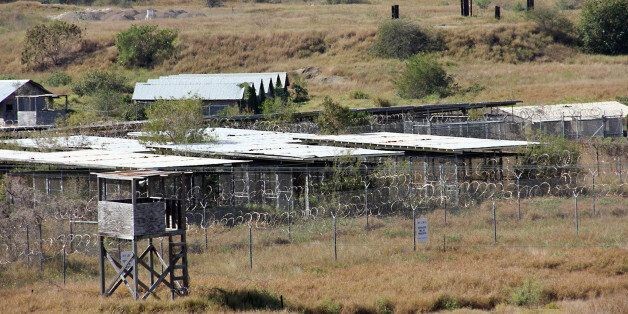 The long-abandoned military detention center Camp X-Ray is seen in this January 27, 2017 photo. After...