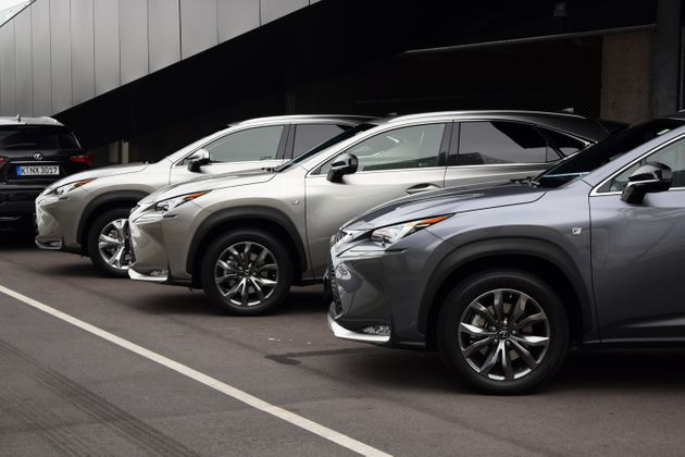 Vienna, Austria – September 30th, 2014: Lexus NX at the international press launch. The cars waiting...