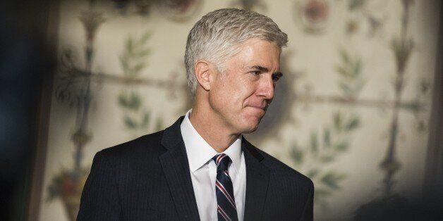 WASHINGTON, USA - FEBRUARY 1: Judge Neil Gorsuch, President Trumps nominee for the U.S. Supreme Court,...