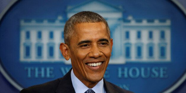 U.S. President Barack Obama holds his final press conference at the White House in Washington, U.S.,...