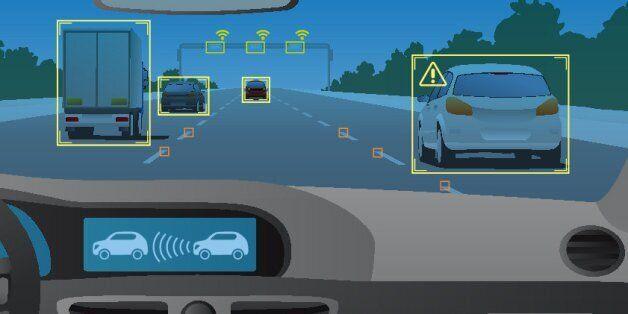 Head up display(HUD) and various information, vehicle interior, vector