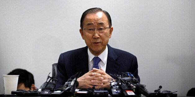 Former U.N. Secretary-General Ban Ki-moon speaks during his news conference in Seoul, South Korea January...