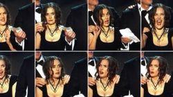 미국 배우조합상(SAG Awards) 시상식에서 위노나 라이더가 지은 이상한 표정들과 그