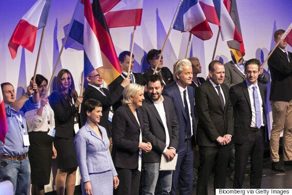 프랑스 극우 르펜이 유럽 극우정당을 모아놓고 '민족국가 부활'을