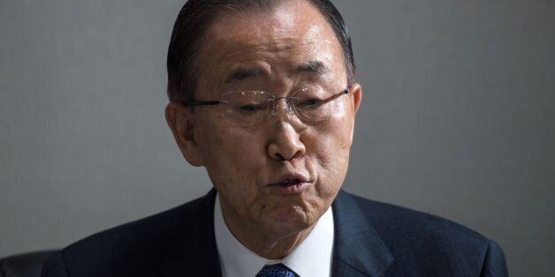Retired UN Secretary General Ban Ki-Moon speaks to the media in Seoul on January 31, 2017.Ban returned...