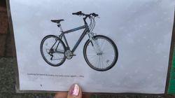'자전거 도둑'에게 편지를 쓴 청년이 뜻밖의 결말을