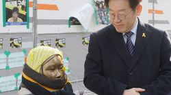 이재명이 일본대사관 앞 소녀상을