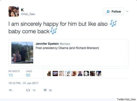모자를 거꾸로 쓴 버락 오바마의 모습에 트위터가