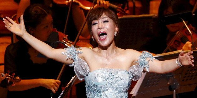 South Korean soprano singer Sumi Jo performs during the gala concert of the 50th anniversary of Japan...