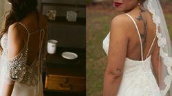 오픈백 스타일의 웨딩드레스를 선택한 신부들(화보
