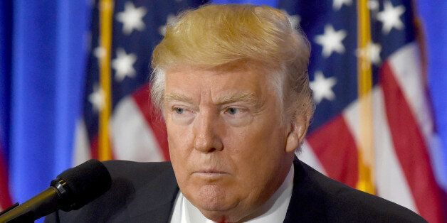 US President-elect Donald Trump speaks during a press conference January 11, 2017 at Trump Tower in New...