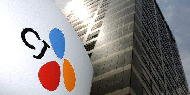 The CJ Group logo is displayed at the company's headquarters in Seoul, South Korea, on Friday, May 31,...
