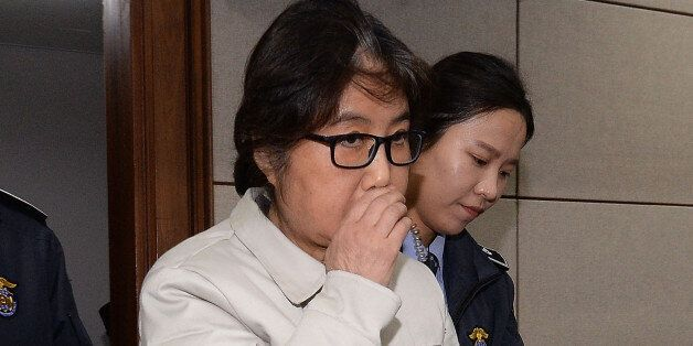 SEOUL, SOUTH KOREA - DECEMBER 19: (SOUTH KOREA OUT) Choi Soon-Sil, the jailed confidante of disgraced...