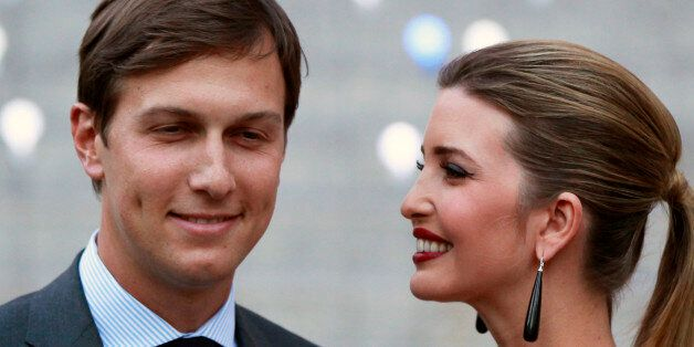Ivanka Trump arrives with husband, Jared Kushner, at the Vanity Fair party to begin the 2012 Tribeca...