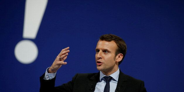 Emmanuel Macron, head of the political movement En Marche !, or Forward !, and candidate for the 2017...
