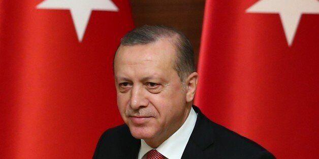 ANKARA, TURKEY - JANUARY 12: Turkish President Recep Tayyip Erdogan attends the Mukhtars (local administrators)...