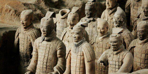 CHINA - NOVEMBER 29: Emperor Qin Shi Huang'S Terra Cotta Soldiers In Xian, China On November 29, 2007...
