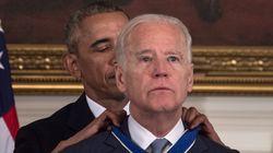 오바마의 깜짝 선물에 바이든이