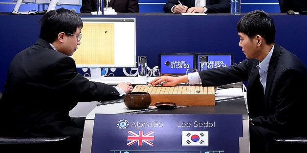 SEOUL, SOUTH KOREA - MARCH 10: In this handout image provided by Google, South Korean professional Go...