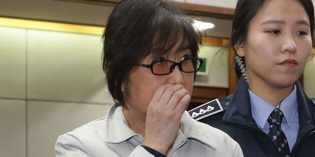 SEOUL, SOUTH KOREA - JANUARY 05: Choi Soon-Sil, the jailed confidante of disgraced South Korean President...