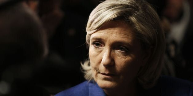 Marine Le Pen, leader of the French far-right Front National (FN) party candidate in France's 2017 presidential...