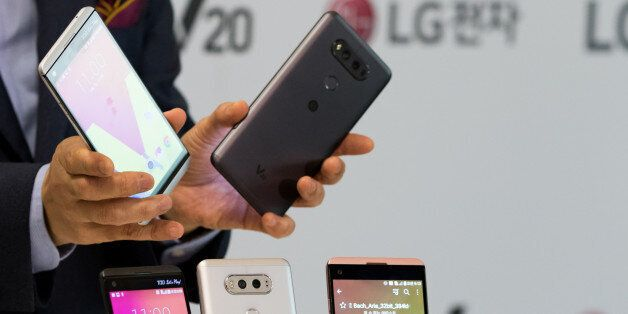 Cho Jun-Ho, chief executive officer of Mobile Communications at LG Electronics Inc., holds the company's...
