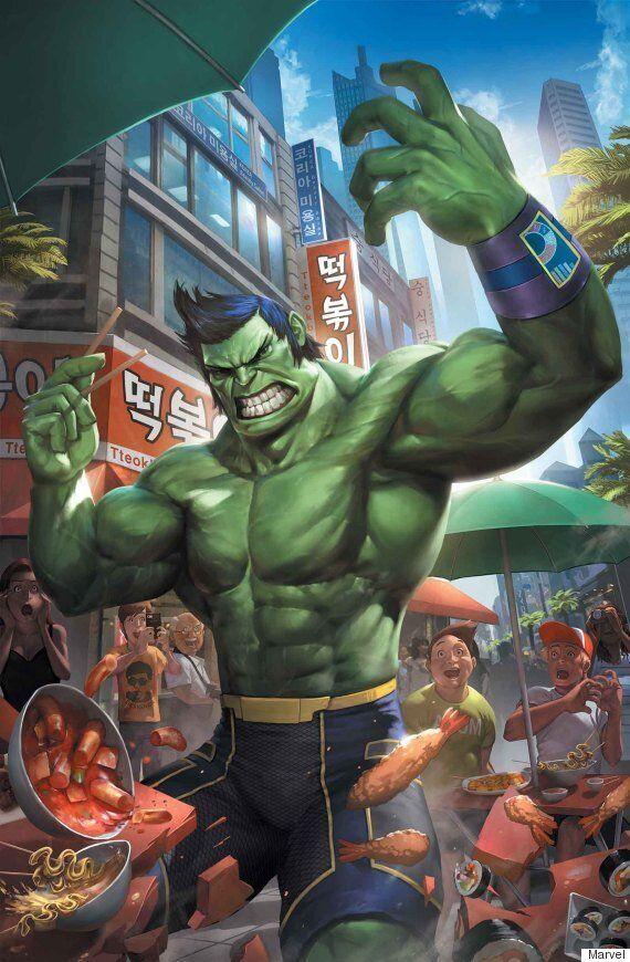 한국계 작가가 그린 헐크 만화에 제레미 린이