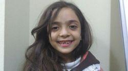 알레포 소녀가 마침내 피난처를