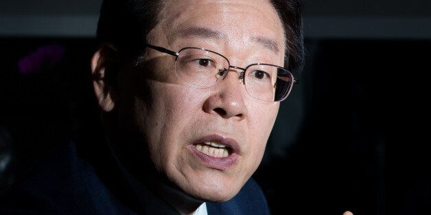 Lee Jae-myung, mayor of Seongnam city, speaks during an interview in Seongnam, South Korea, on Wednesday,...