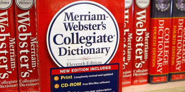NILES, IL - NOVEMBER 10: A Merriam-Webster's Collegiate Dictionary is displayed in a bookstore November...