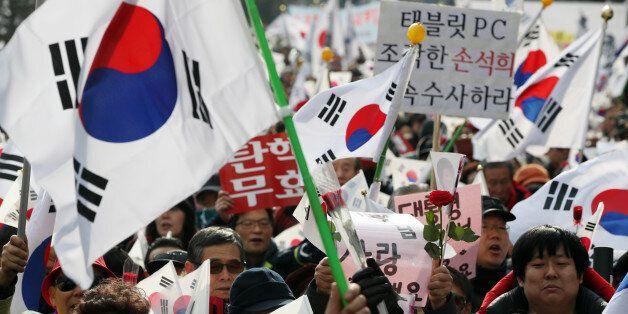 박사모 등이 결성한 '탄핵기각 총궐기 운동본부'가 집회를