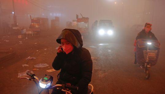 [화보] 중국 스모그는 인류 최후의 날을