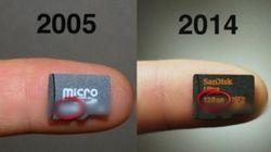 10년 전 SD카드의 용량은 어느