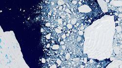 남극의 빙하가 빠른 속도로 녹고