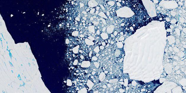 ANTARCTICA - FEBRUARY 2000: The Larsen B Ice Shelf, Antarctica. Global warming and climate change eventually...